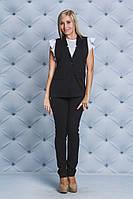 Костюм женский жилет+брюки черный