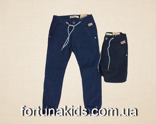 Котоновые брюки на флисе для мальчиков GRACE 98-128 р.р