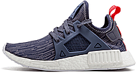 """Женские кроссовки Adidas NMD XR1 PK W """"Unity Blue/Collegiate Navy/Vivid Red"""" (Адидас НМД) синие"""