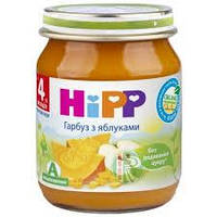 "4243 HIPP Овочево-фруктове пюре ""Гарбуз з яблуками"", 125г"