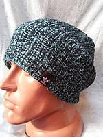 Вязаная мужская шапка в расцветках 558-05