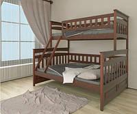 Двухъярусная кровать трансформер Русалочка / Русалонька из массива бука