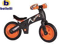 Велосипед (беговел) BELLELLI B-Bip обучающий 2-5лет, пластмассовый, чёрный с оранжевыми колёсами