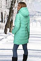 Женское полу-пальто мята, голубая