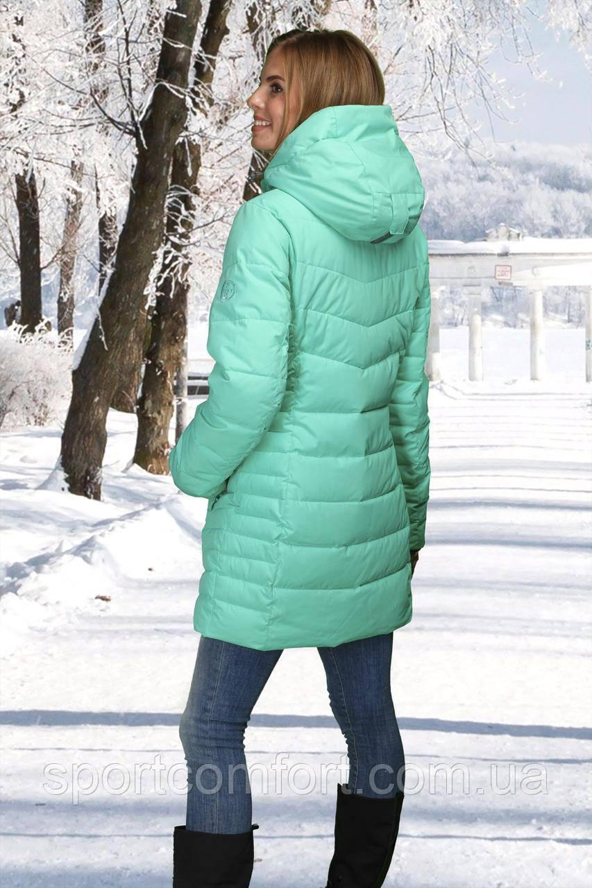 Жіноче напів-пальто м'ята, блакитна
