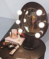 Зеркало гримерное настольное черное Star