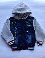 Джинсовая куртка для мальчиков от 6 до 10 лет