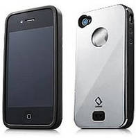 Чохол CapDase Alumor Metal Case iPhone 4/4S Chrome