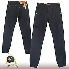 Джинсы подростковые на мальчика с боковыми карманами низ резинка