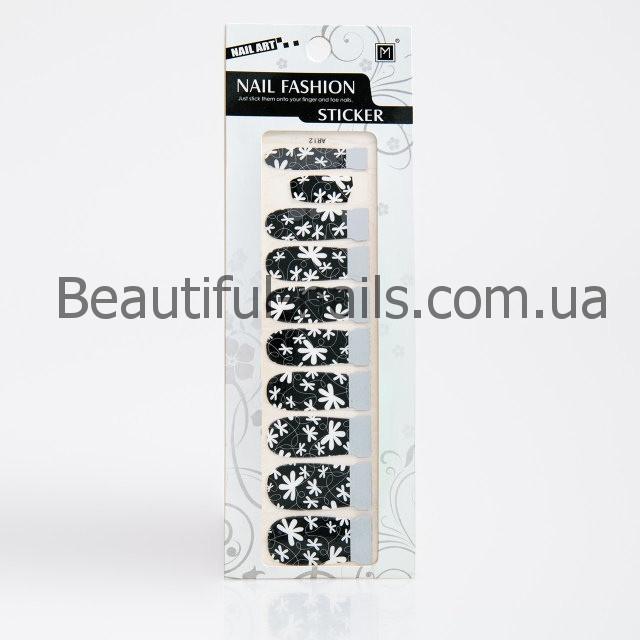 Атр стікери для дизайну нігтів 12 шт в упаковці