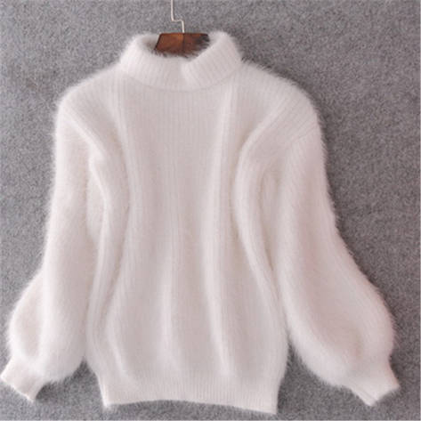 """Шикарный, женский свитер """"Вязка акрил+ангора, широкие рукава""""  фабричный Китай РАЗНЫЕ ЦВЕТА, фото 2"""