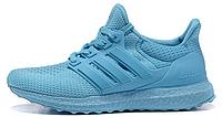 Женские кроссовки  Adidas Ultra Boost All Light Blue (в стиле Адидас Ультра Буст) голубые