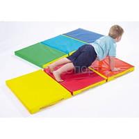 Мат складаний дитячий (150-50-5 см) з 3-х частин, фото 1