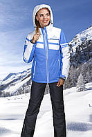 Женская лыжная куртка голубая, фото 1