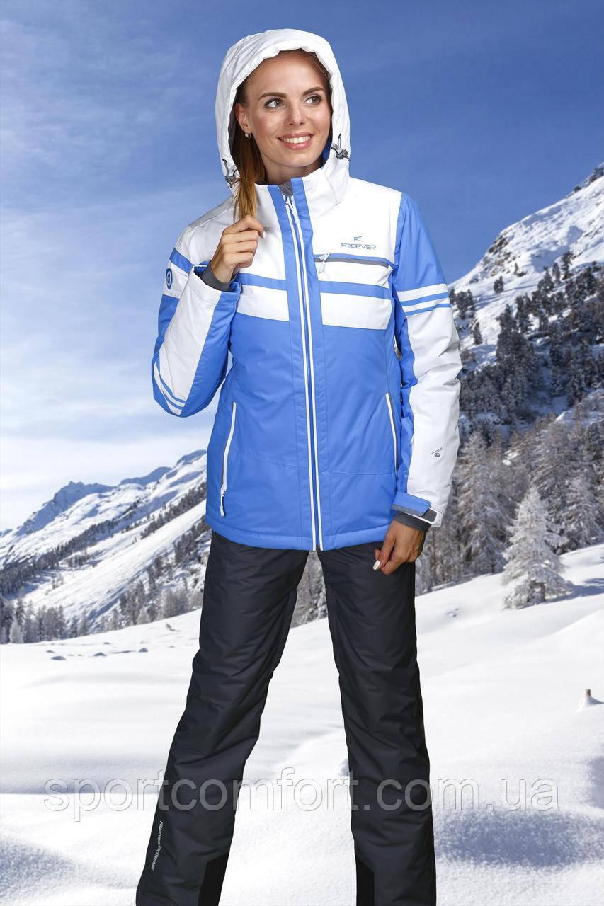 Женская лыжная куртка голубая