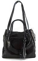 Стильная кожаная женская сумка с лазерной обработкой GALANTYart. 10057N чернаяТурция