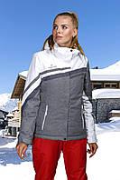 Женская лыжная куртка миланж с белым