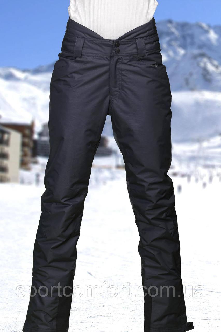 Лыжные женские брюки темно-серые