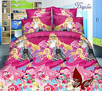 Постельное детское белье Барби 1,5 спальный комплект