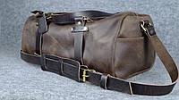 Кожаная спортивная сумка Big Travel (ременная кожа) | Винтажный Коньяк, фото 1