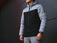 Мужская куртка Pobedov Double Colour (Победов) серо-черный