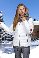 Женская лыжная куртка белая