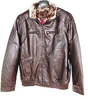 """Куртка мужская зимняя кожзам на меху, размеры 48-58 Серии """"SHENGYI"""" купить оптом в Одессе на 7 км"""