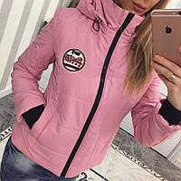 Легкая женская демисезонная куртка с капюшоном 33016