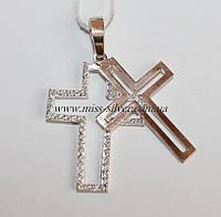 Двойной крест из серебра и золота Франческа