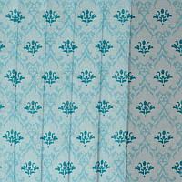 Тюль с рисунком Лён Люксембург (голубой)