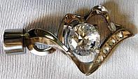 Касия с кристаллом д. 25 мм, сталь
