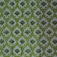 Тюль с рисунком Лён Люксембург (оливковый)