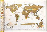 Скретч карта мира Discovery Map Gold на английском языке