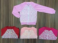 Кофта для девочки на молнии красная и розовая легкий начес
