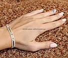 Серебряный браслет с золотыми пластинами Софи, фото 3