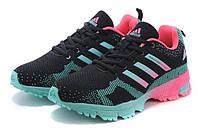 Женские кроссовки Adidas Marathon Flyknit (адидас марафон) черные