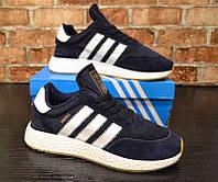 Мужские кроссовки Adidas Iniki Navy (Топ качество, реплика)