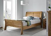 Кровать двуспальная из массива натурального дерева