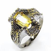 Цитрин, серебро 925, кольцо, 660КЦ