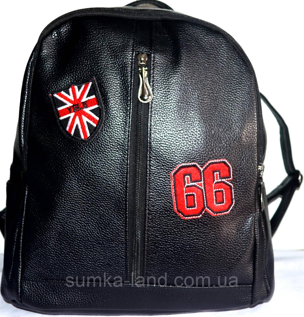 f351886096fd Женский городской рюкзак из искусственной кожи 26*33 (черный ...