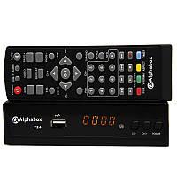 Эфирный  цифровой T2 ресивер (тюнер) Alphabox T24 DVB-T2 Dolby Digital AC3 IPTV YouTube Megogo