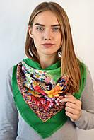 Натуральный платок Амели лилия зеленый