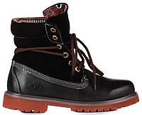 Мужские ботинки Timberland Roll-Top Black (Тимберленд) черные