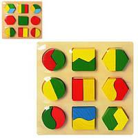 Деревянная игрушка Геометрика MD 0716
