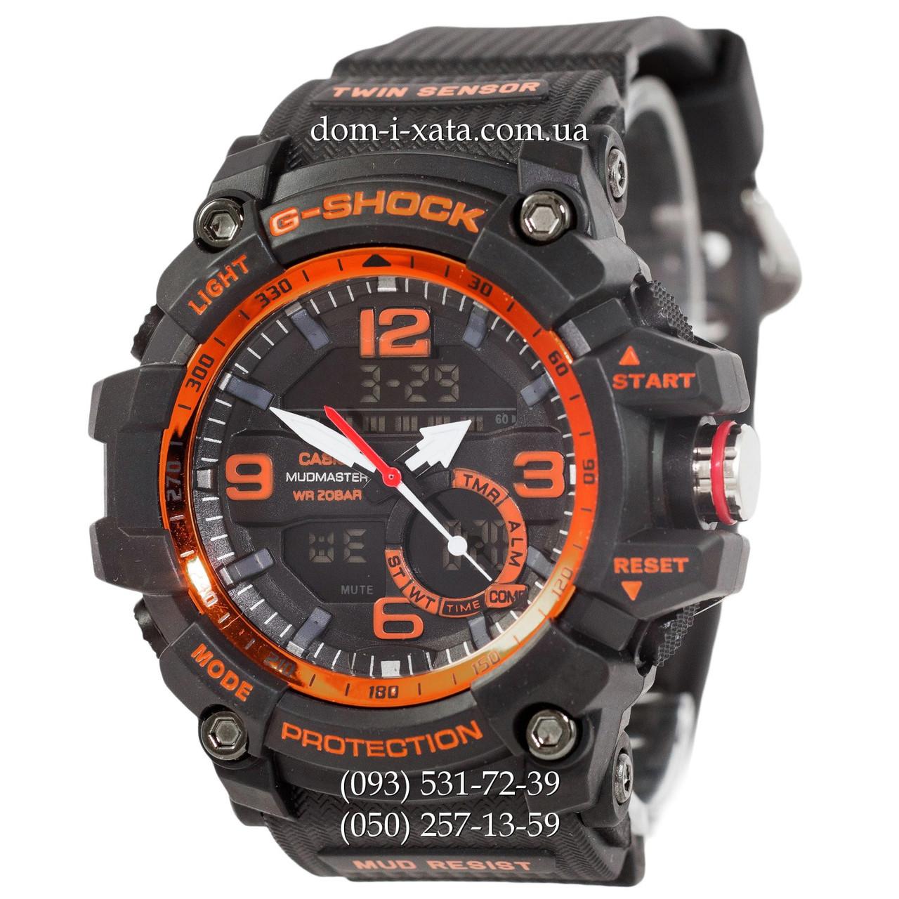 Электронные часы Casio G-Shock GG-1000 Black-Orange, спортивные часы Джи Шок, реплика