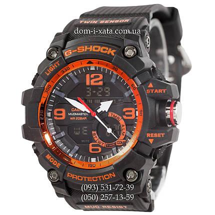 Электронные часы Casio G-Shock GG-1000 Black-Orange, спортивные часы Джи Шок, реплика, фото 2