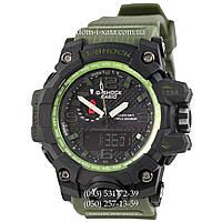 Электронные часы Casio G-Shock GWG-1000 Black-Militari Wristband, спортивные часы Джи Шок черный-зеленый