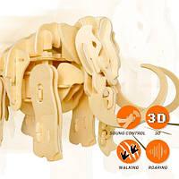 Движущиеся деревянный 3D конструктор «Мамонт»