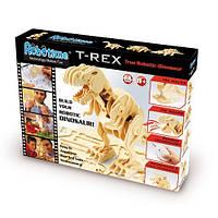 Деревянный 3D конструктор «Динозавр T-Rex» на радиоуправлении
