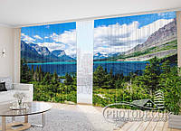 """Фото Штори в зал """"Біля озера Св. Марії"""" 2,7 м*3,5 м (2 полотна по 1,75 м), тасьма"""